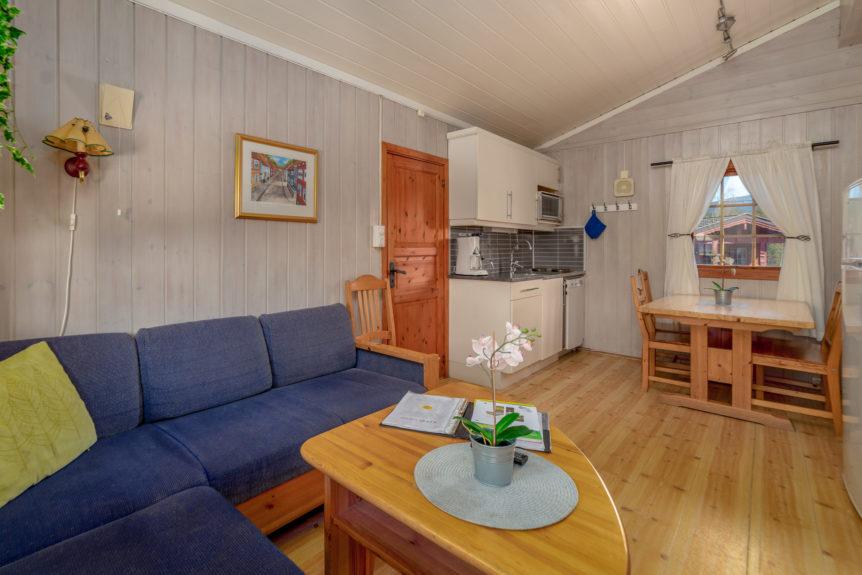 Fra stue/kjøkken i hyttene 1-10 . plass til 6 pers 2 soverom