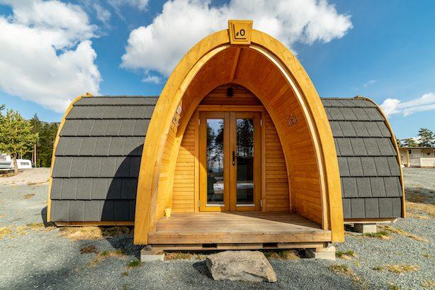 Pods på Bø Camping