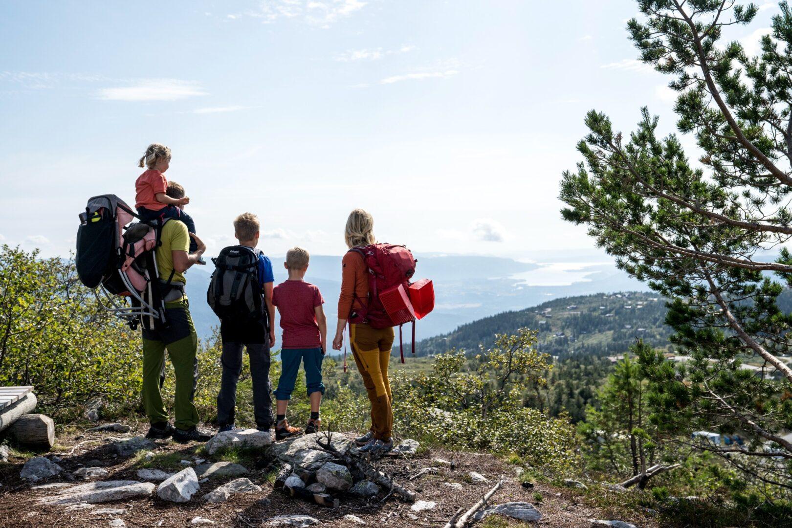 Familie på toppen av Krinto