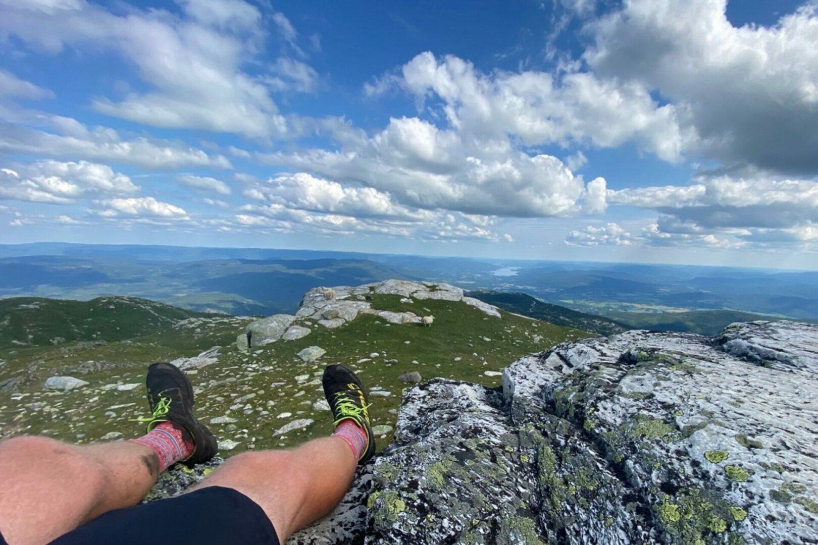 Utsikten på toppen av Glekse