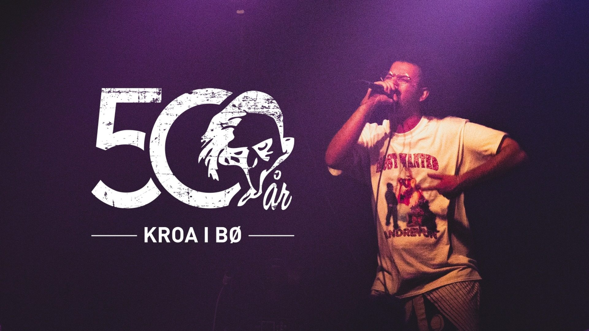 Kroa konsert med logo